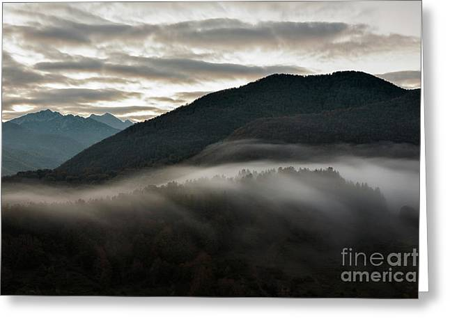 Sunrise In The Abruzzo National Park Greeting Card