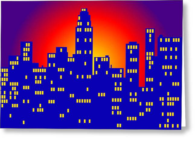 Sunrise In The City Greeting Card