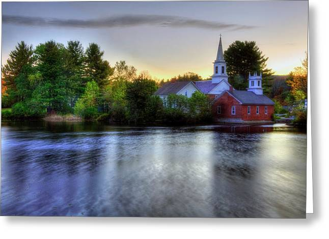 Greeting Card featuring the photograph Sunrise In The Country - Harrisville Nh by Joann Vitali
