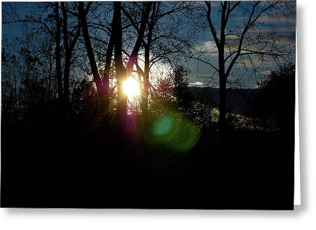 Sunrise In The Fall Greeting Card by RonSher Brooks