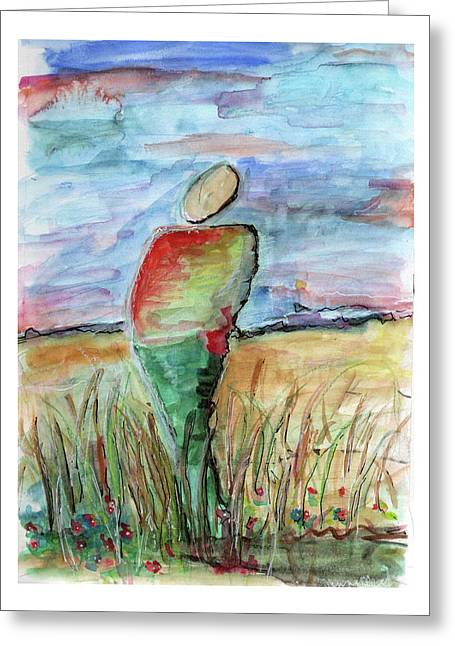 Sunrise In The Grasses Greeting Card