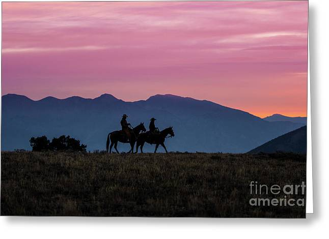 Sunrise In The Lost River Range Wild West Photography Art By Kay Greeting Card