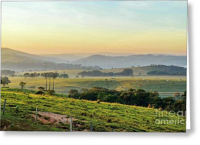 Sunrise In The Mountains Greeting Card