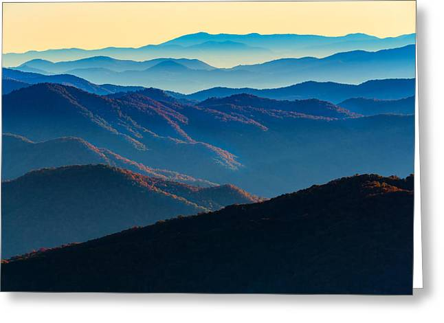 Sunrise In The Smokies Greeting Card by Rick Berk