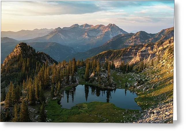 Sunrise In The Wasatch Greeting Card