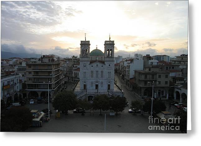 Sunrise In Tripoli, Greece Greeting Card