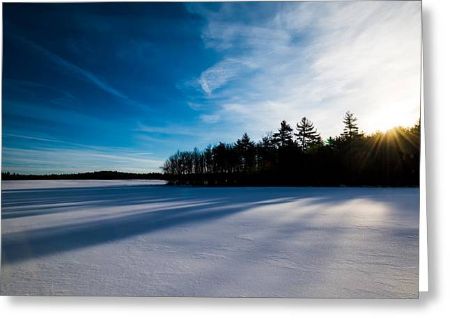 Sunrise In Winter Greeting Card