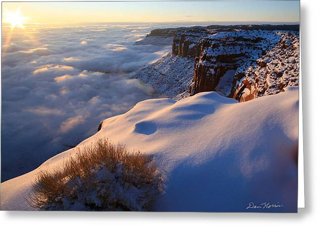 Sunrise Inversion At Buck Canyon Overlook Greeting Card