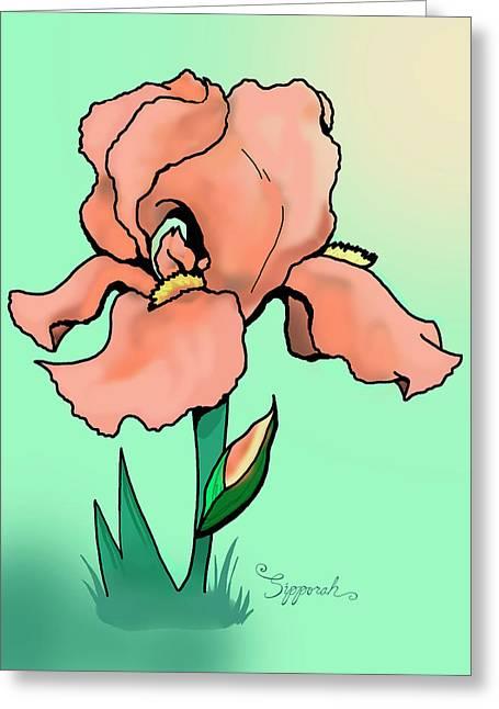 Sunrise Iris Greeting Card