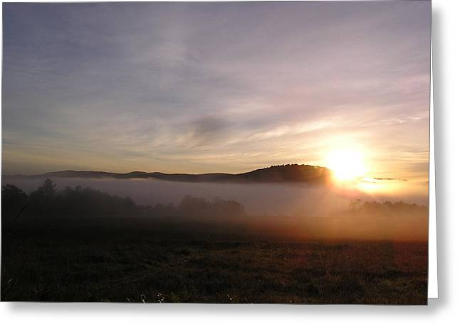 Sunrise Greeting Card by Jashobeam Forest