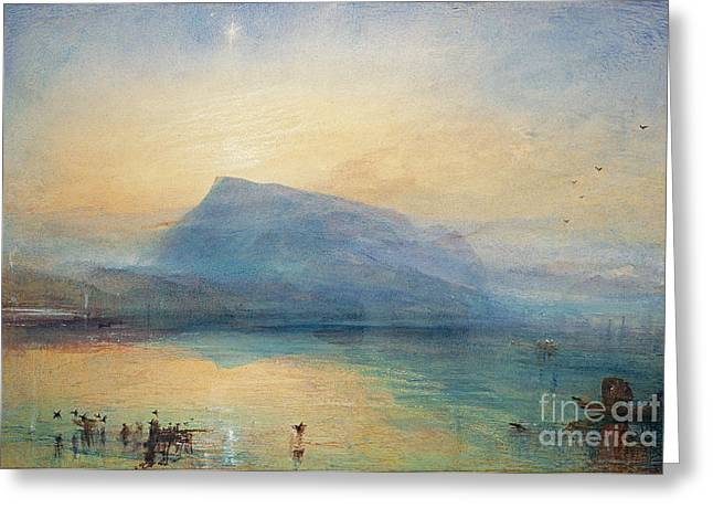 Romanticist Greeting Cards - Sunrise Greeting Card by Joseph Mallord William Turner