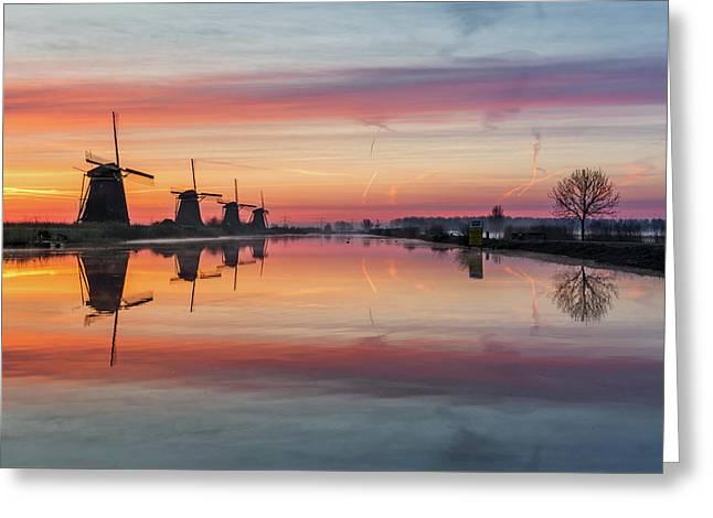 Sunrise Kinderdijk Greeting Card