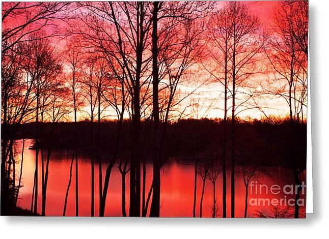 Sunrise Lake Norman North Carolina Greeting Card