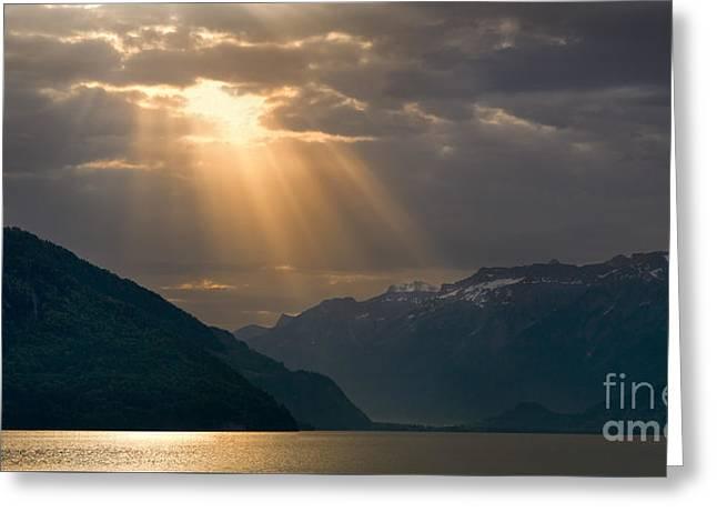 Sunrise Lake Thun, Switzerland Greeting Card