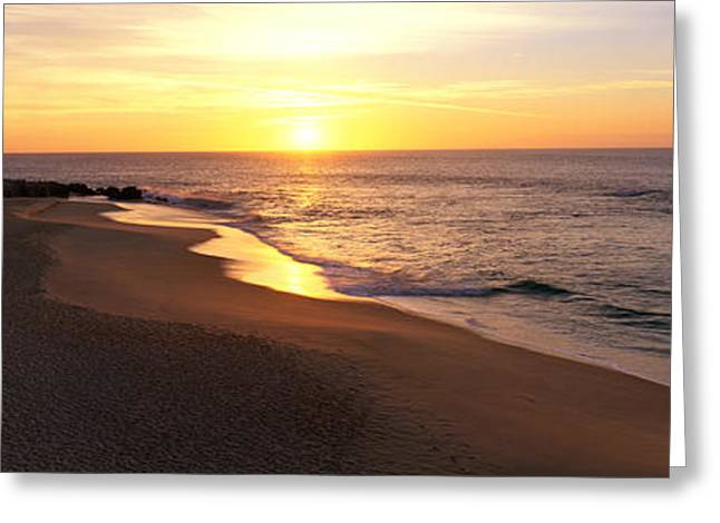 Sunrise Los Cabos Mexico Greeting Card by Panoramic Images
