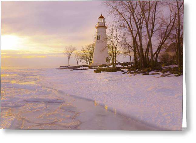 Sunrise Marblehead Greeting Card by Jack R Perry