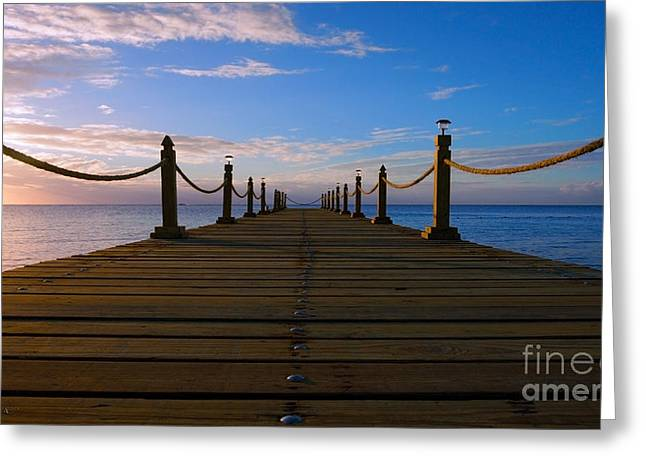 Sunrise Morning Bliss Pier 140a Greeting Card