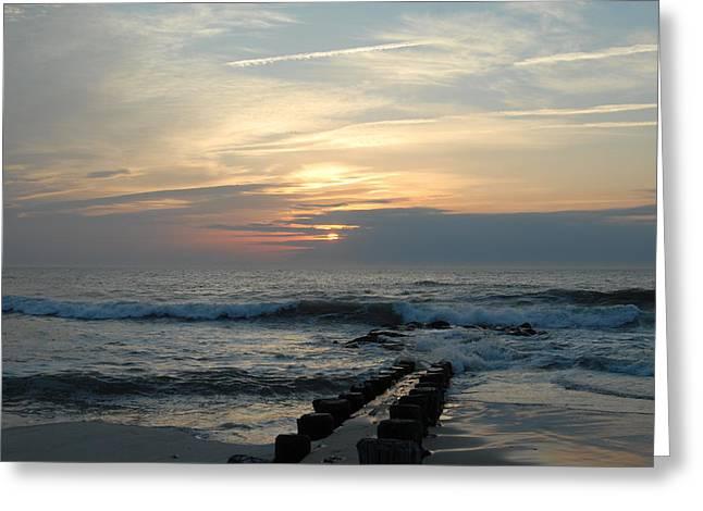Sunrise Ocean 50 Greeting Card by Joyce StJames