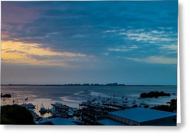 Sunrise On Biscayne Bay Greeting Card
