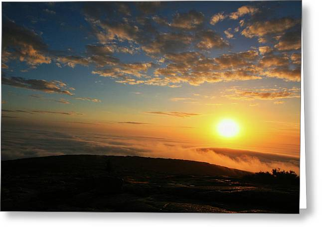 Sunrise On Cadillac Mountain Greeting Card