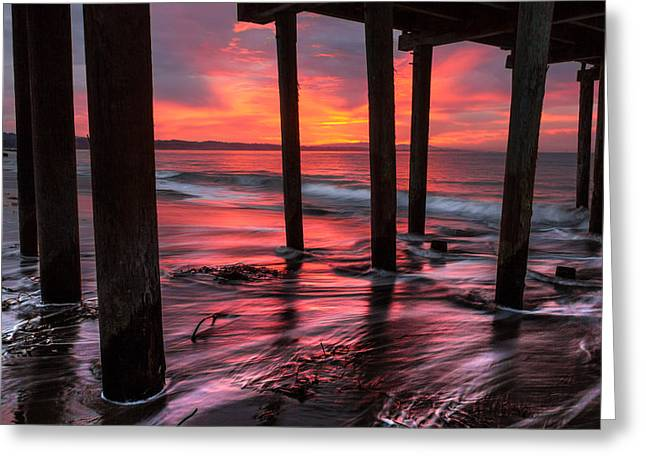 Sunrise On Capitola 1 Greeting Card by Joe Azevedo