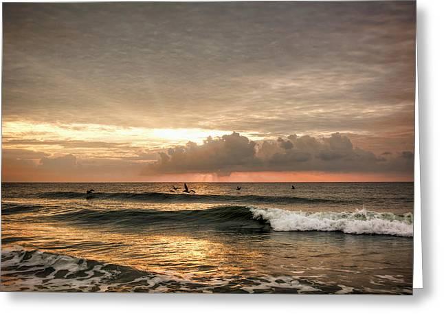 Sunrise On Carolina Beach North Carolina Greeting Card
