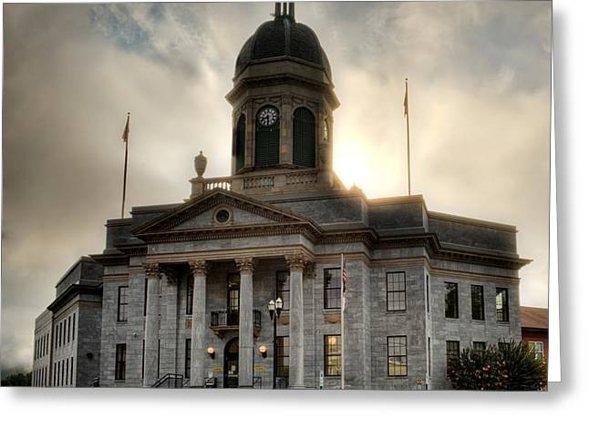 Sunrise On Cherokee County Courthouse Greeting Card