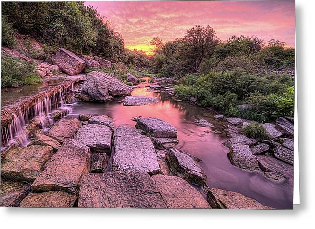 Greeting Card featuring the photograph Sunrise On Deep Creek by JC Findley