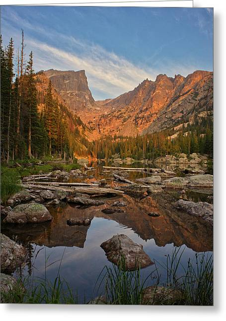 Sunrise On Dream Lake Greeting Card