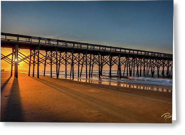 Greeting Card featuring the photograph Sunrise On Folly Island by Rikk Flohr