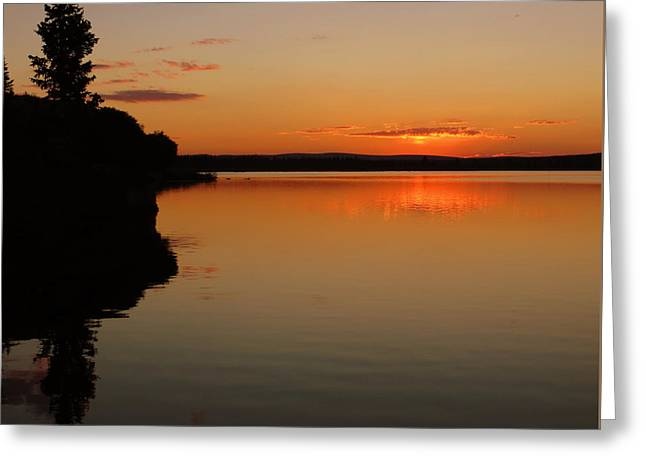 Sunrise On Heart Lake Greeting Card