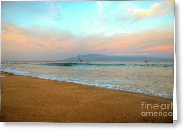 Greeting Card featuring the photograph Sunrise On Ka'anapali by Kelly Wade