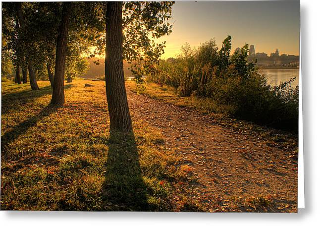 Sunrise On Kaw Point Greeting Card by Don Wolf
