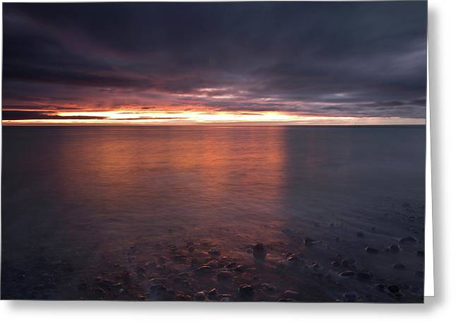 Sunrise On Killiney Beach Greeting Card