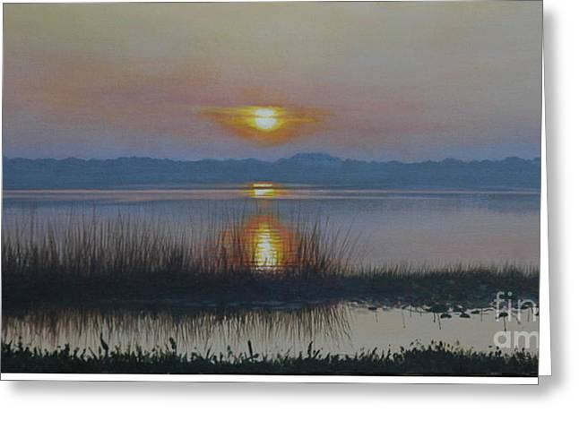 Sunrise On Lake Hollingsworth Greeting Card by Michael Nowak