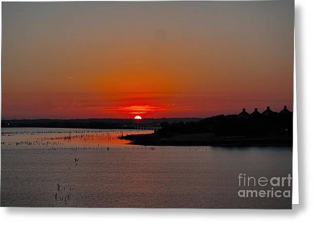 Sunrise On Lake Ray Hubbard Greeting Card