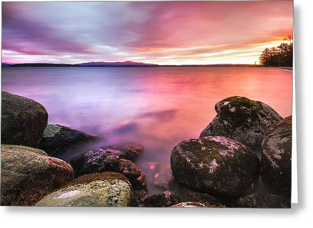 Sunrise On Lake Winnipesaukee Greeting Card