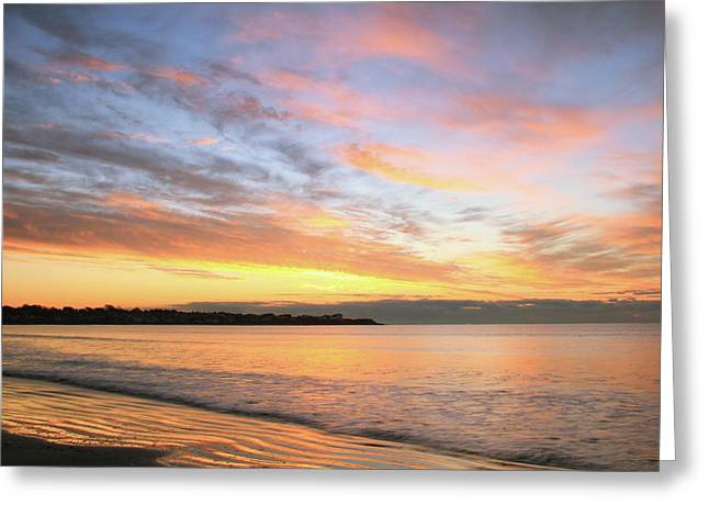 Sunrise On Middletown Rhode Island Greeting Card by Roupen  Baker