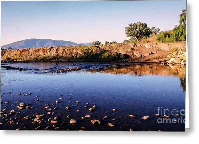 Sunrise On Nariel Creek Greeting Card by Lexa Harpell