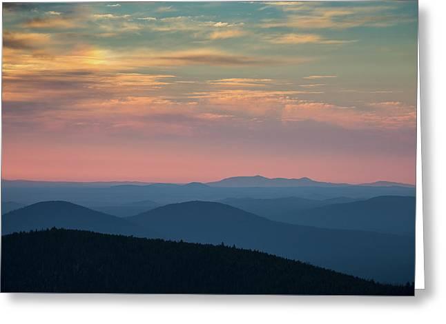 Sunrise On Paulina Peak Greeting Card