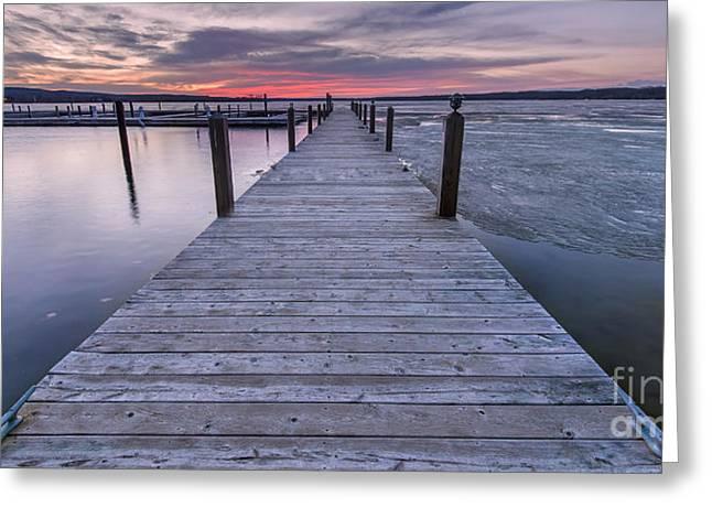 Sunrise On Portage Lake Greeting Card