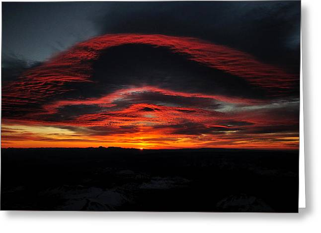Sunrise On Rainier Greeting Card