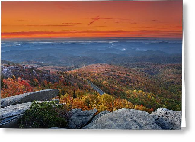 Sunrise On Rough Ridge  Greeting Card