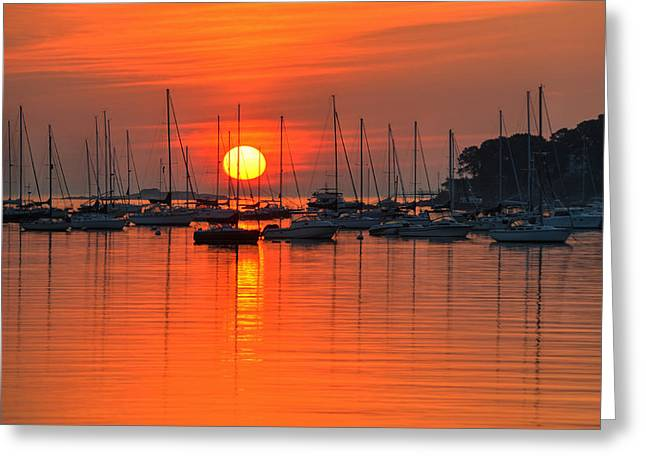 Sunrise On Salem Harbor Salem Ma Greeting Card