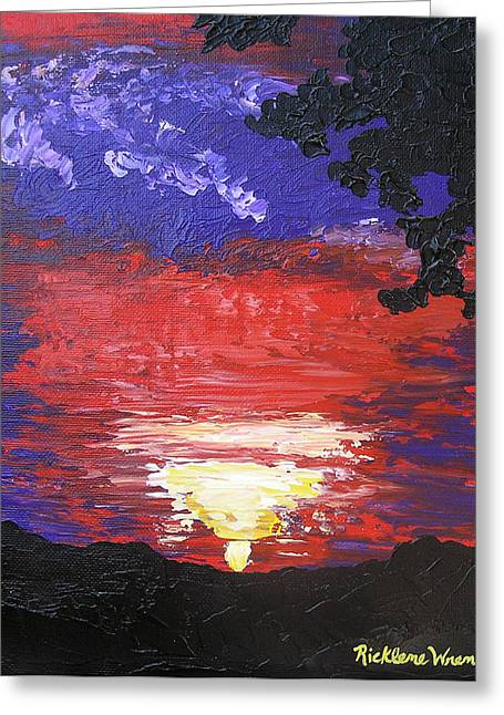 Sunrise On Saturday Greeting Card by Ricklene Wren
