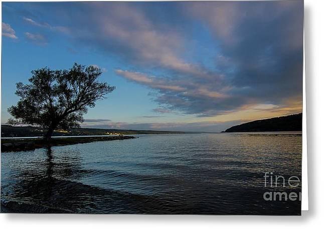 Sunrise On Seneca Lake Greeting Card