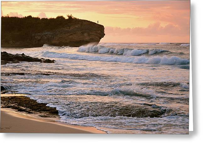 Sunrise On Shipwreck Beach Greeting Card by Marie Hicks
