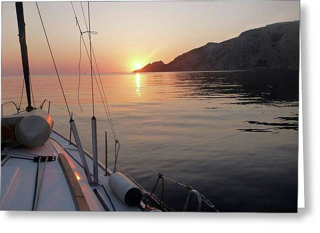 Sunrise On The Aegean Greeting Card
