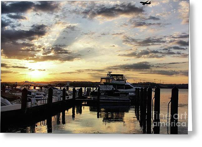 Sunrise On The Alexandria Waterfront Greeting Card