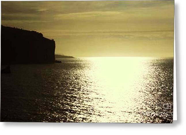 Sunrise On The Almalfi Coast Greeting Card